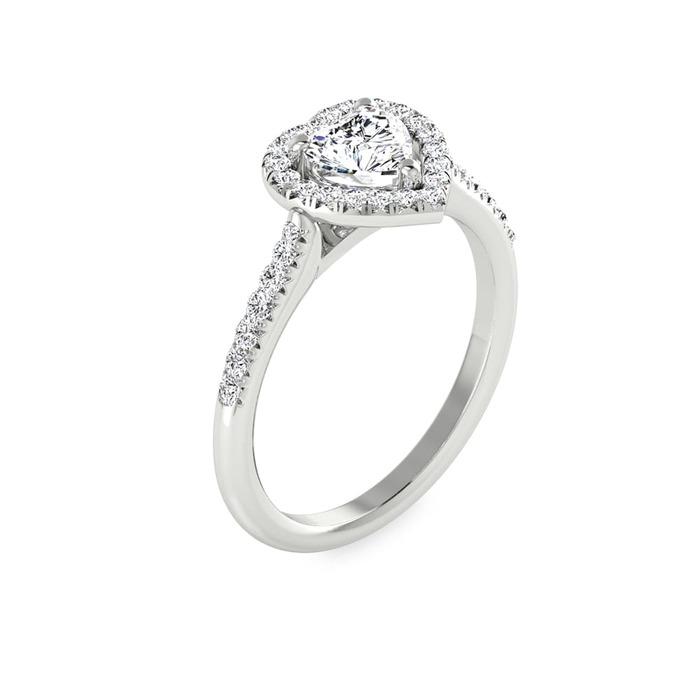 Bague  Classique  Diamant or COEUR