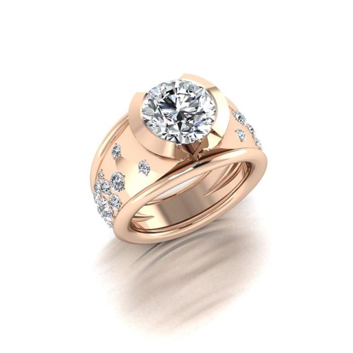 Bague  Classique  Diamant or CONSTELLATION