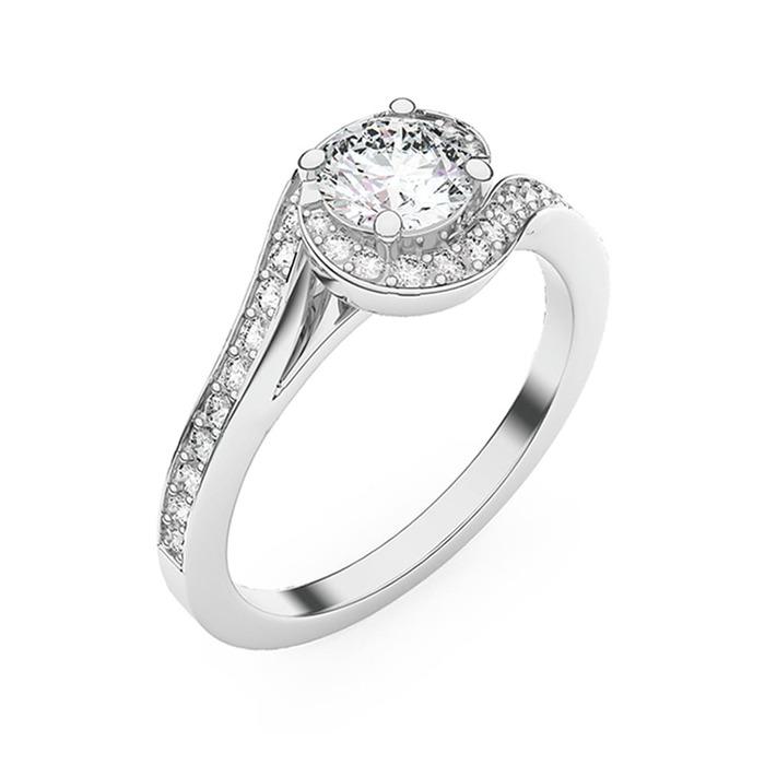 Bague  Classique  Diamant or EMBRASSE MOI