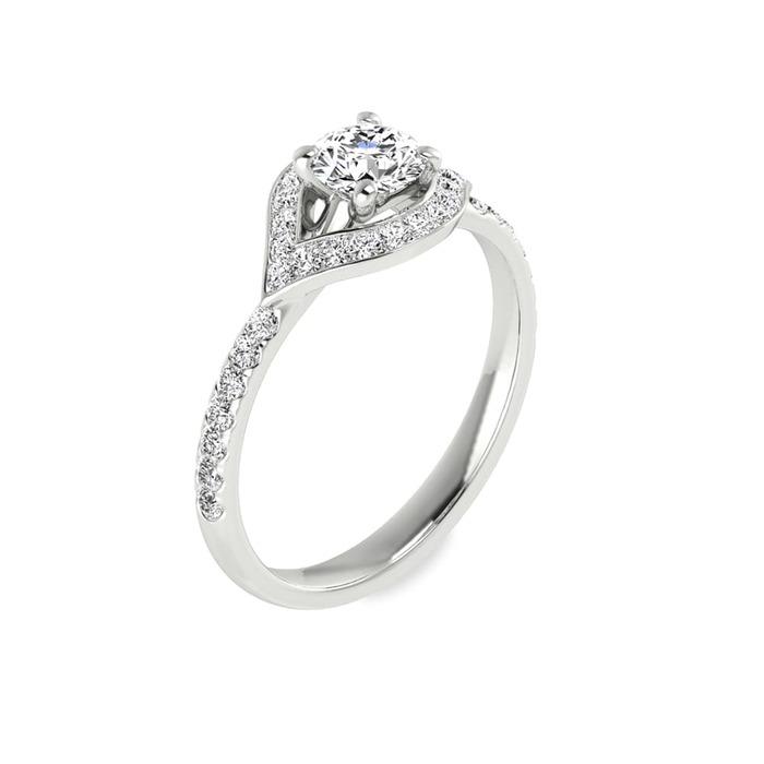 Bague  Classique  Diamant or FLECHE D'AMOUR