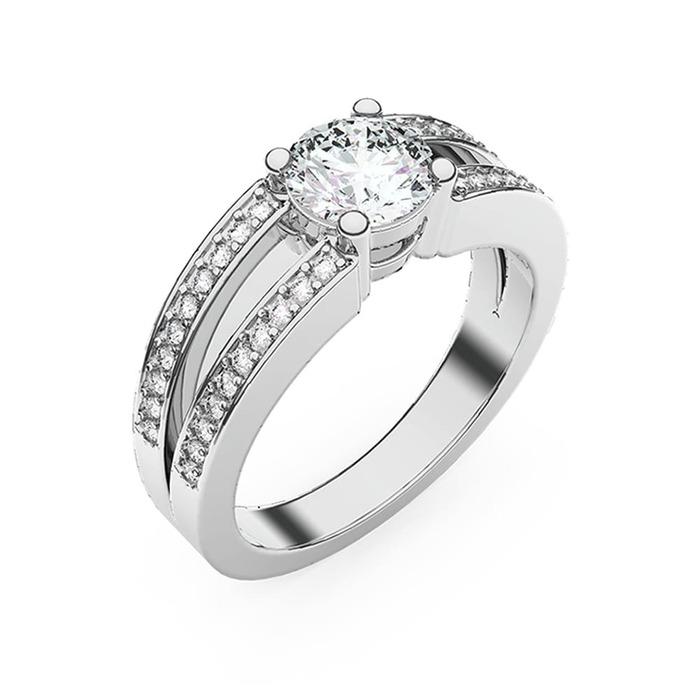 Bague  Classique  Diamant or NOUS 2