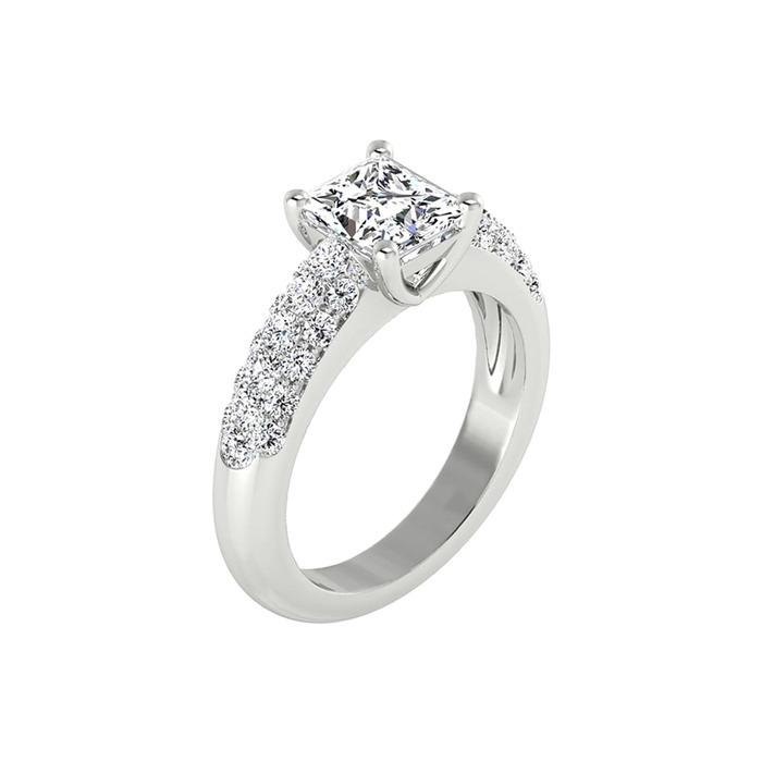 Ring Classics Diamond Gold ROYAL PRINCESS paved 2