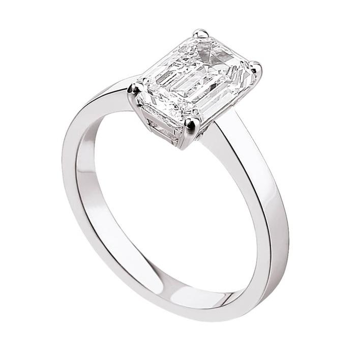 Bague  Classique  Diamant or taille EMERAUDE