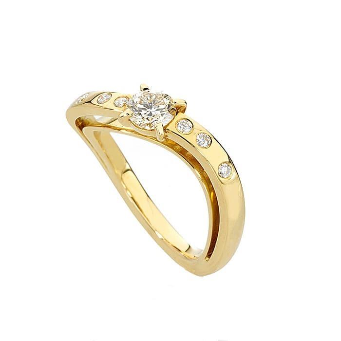 Ring Designer jewellery Diamond Gold LIGHT GLANCE N°3
