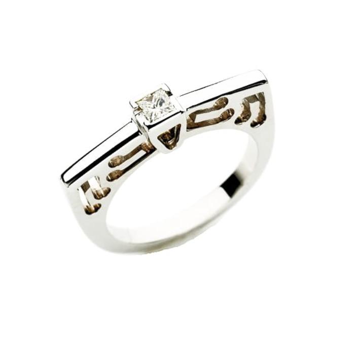 Ring Designer jewellery Diamond Gold PRINCESS MUSIC by Sandro