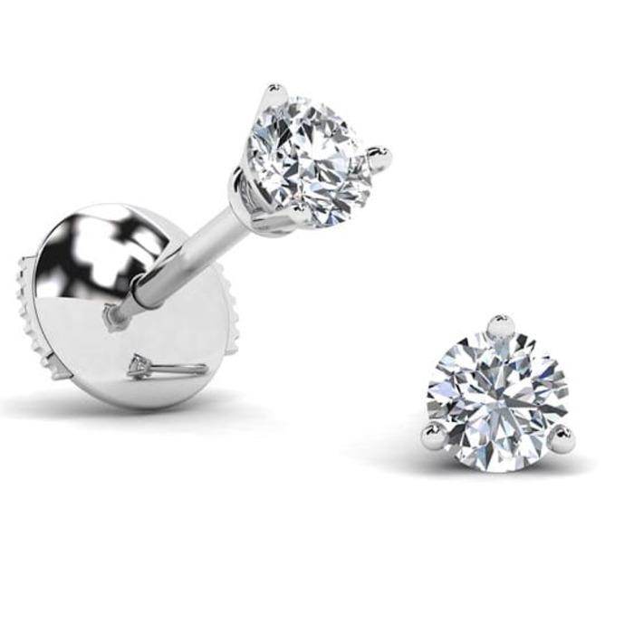 Earrings Classics Diamond Gold 3 CLAWS PREMIUM