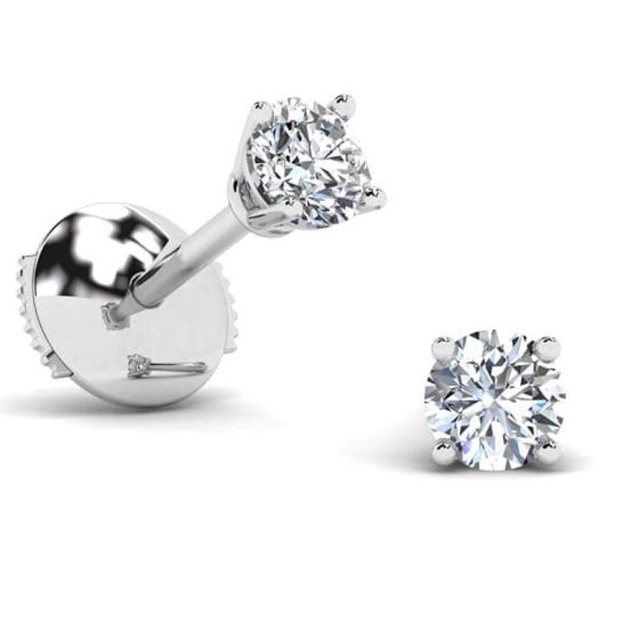 Earrings Classics Diamond Gold 4 CLAWS PREMIUM