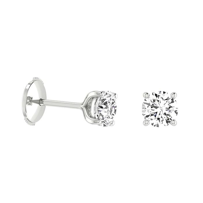 Boucles d'Oreilles  Classique  Diamant or 4 GRIFFES