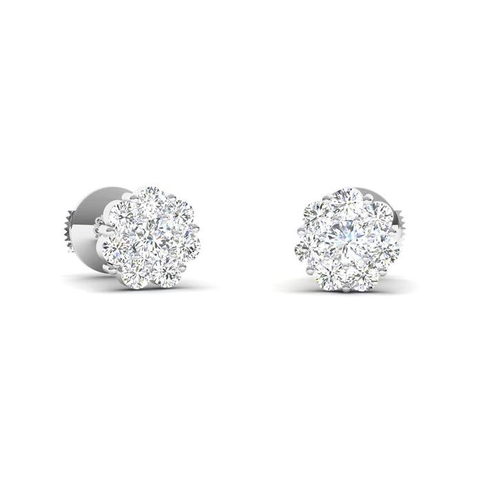 Earrings Classics Diamond Gold BOUQUET OF DIAMONDS