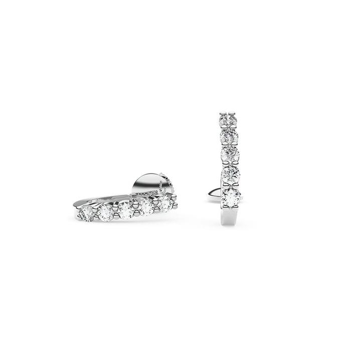 Boucles d'Oreilles  Classique  Diamant or DIAMOND CURVE