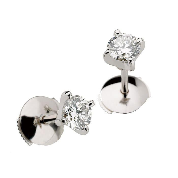 Boucles d'Oreilles  Classique  Diamant or serti griffes BERCEAU