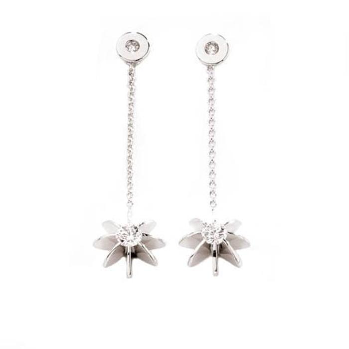 Earrings Designer Diamond Gold SUN by Sando