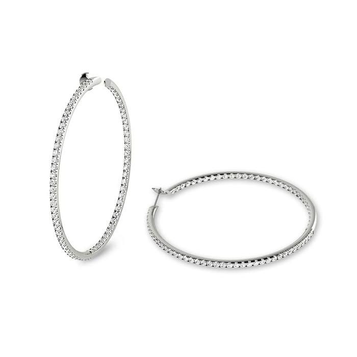 Boucles d'Oreilles  Créoles Diamant or CREOLES COLLECTION  ( 1.5 cm ) e&i