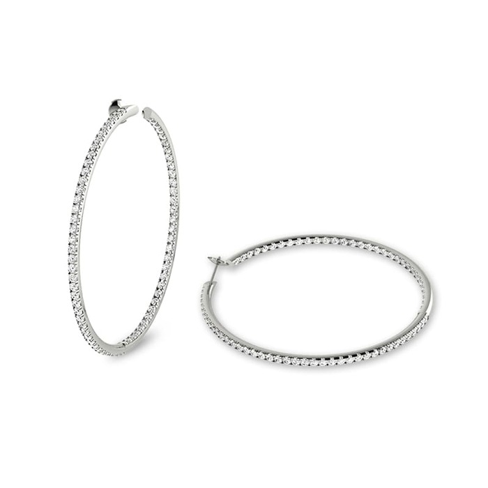 Earrings Hoop earrings Diamond Gold HOOP COLLECTION ( 3.5 cm ) e&i