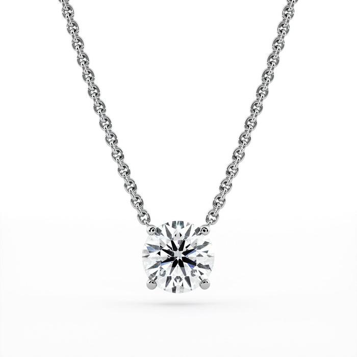 Pendentif Classique  Diamant or 4 GRIFFES sans bélière