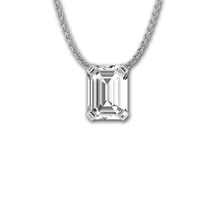 Pendant & Necklace Classics Diamond Gold EMERALD shape