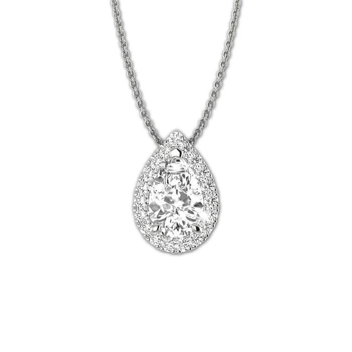 Pendant & Necklace Classics Diamond Gold Tear Drop of Diams
