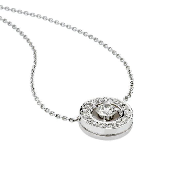 Pendentif Classique  Diamant or pavé, CERCLE DES POETES