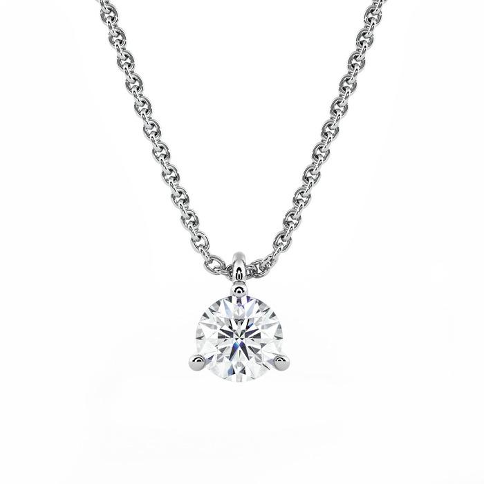 Pendentif Classique  Diamant or Pendentif 3 Griffes