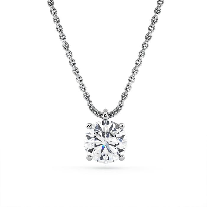 Pendentif Classique  Diamant or Pendentif 4 Griffes