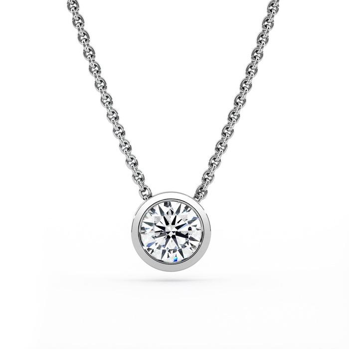 Pendentif Classique  Diamant or serti clos ETERNITE