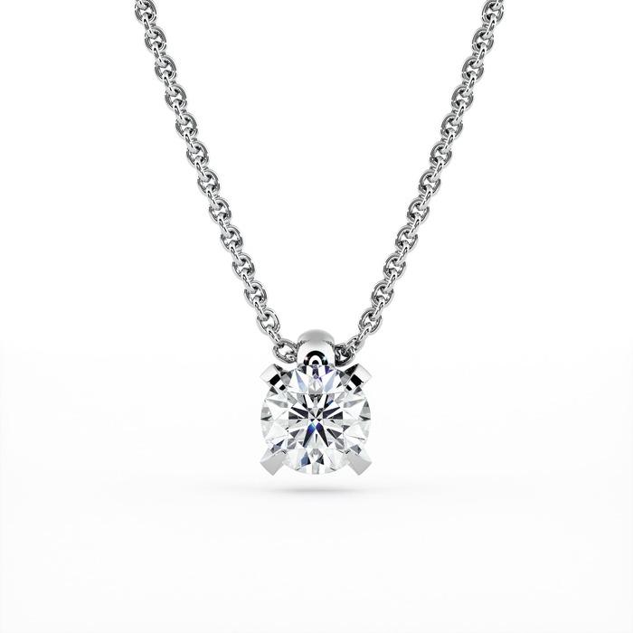 Pendentif Classique  Diamant or serti griffes BERCEAU