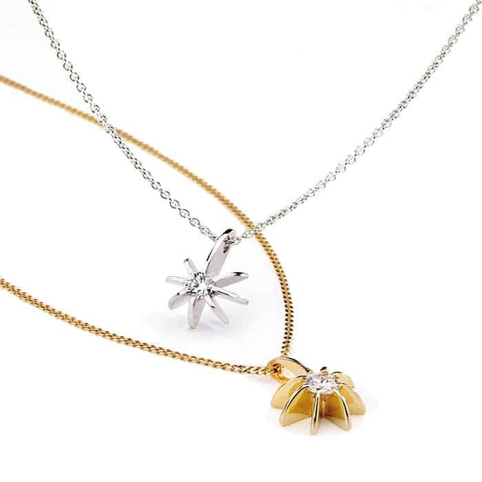 Pendant & Necklace Designer Jewellery Diamond Gold BRILLIANT SUN 0.20