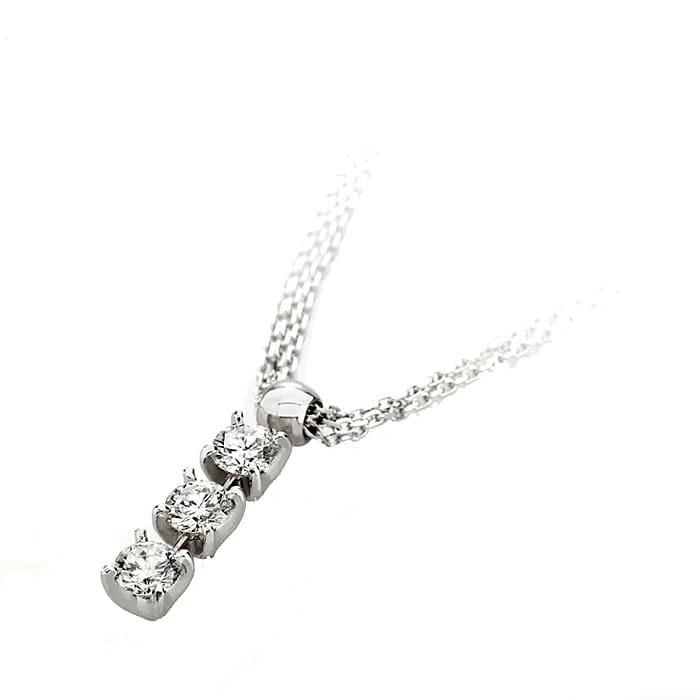 Pendant & Necklace Trilogy Diamond Gold TRILOGY 3