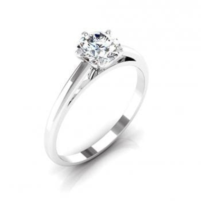 Engagement ring Paved  Diamond Gold 5 Claws with small diamonds set into the claws