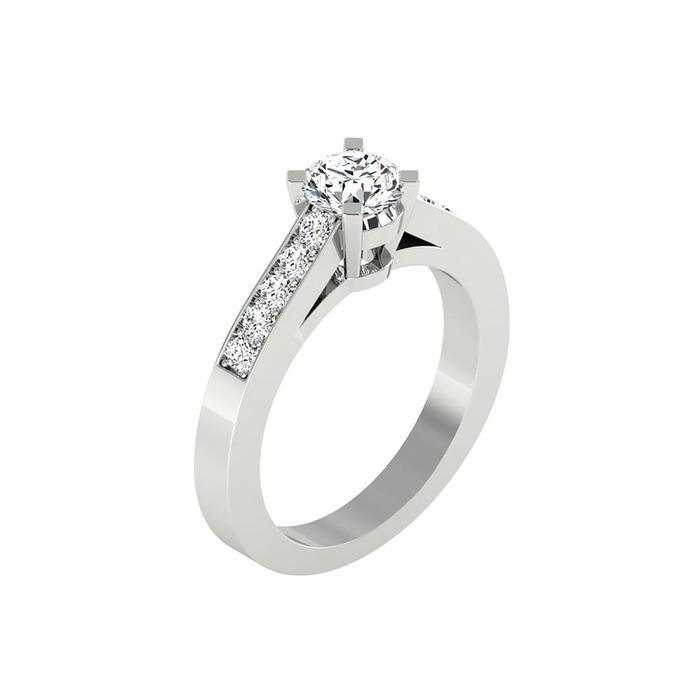 Engagement ring Paved  Diamond Gold CELESTIAL