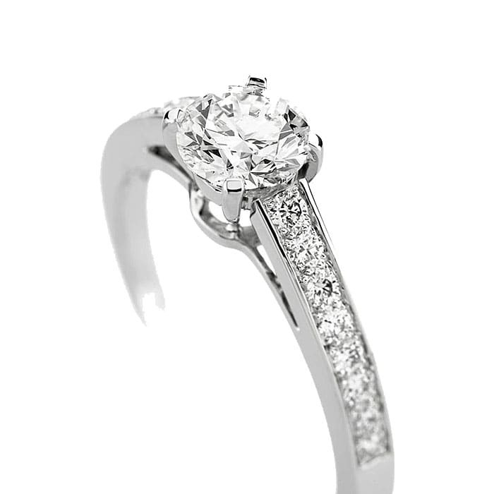 Engagement ring Paved  Diamond Gold PARIS Premium 2