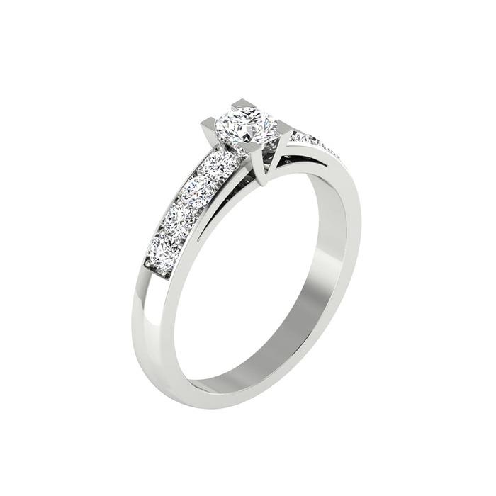 Solitaire  Classique avec pavage  Diamant or VISION
