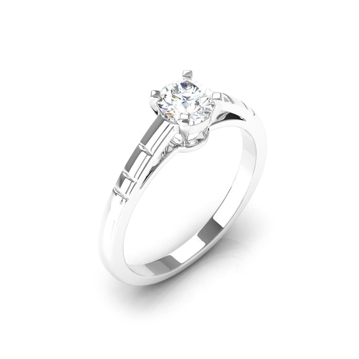 Engagement ring Classics Diamond Gold Some-day (one-Night) 4-Claws and Hyphens