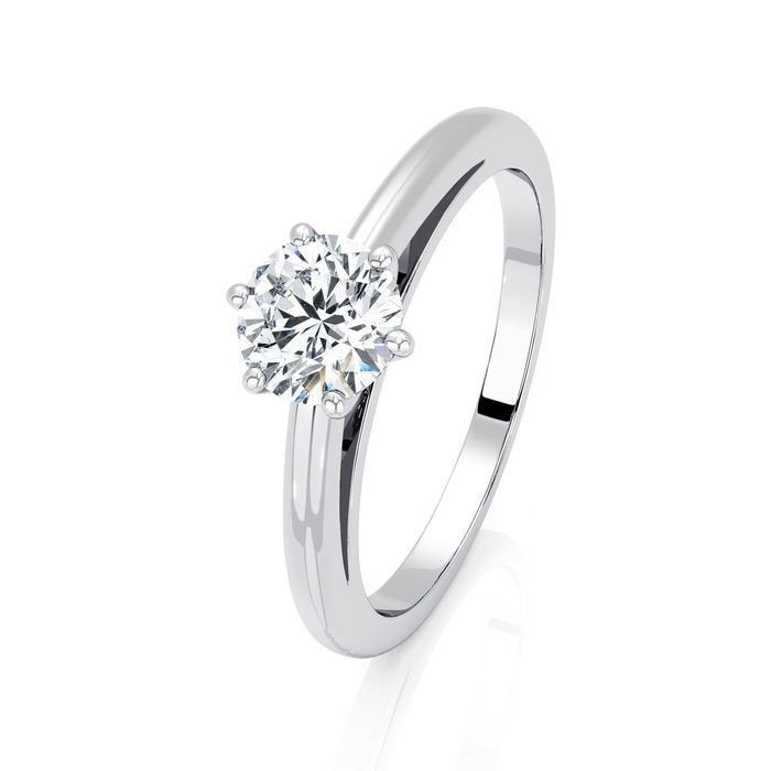 Engagement ring Classics Diamond Gold 6 Claws Classic