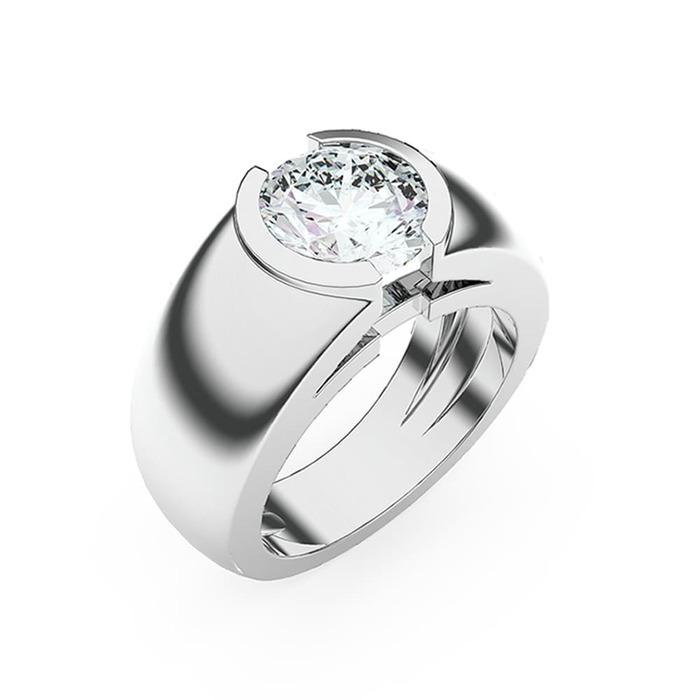 Solitaire  Classique  Diamant or LUNA