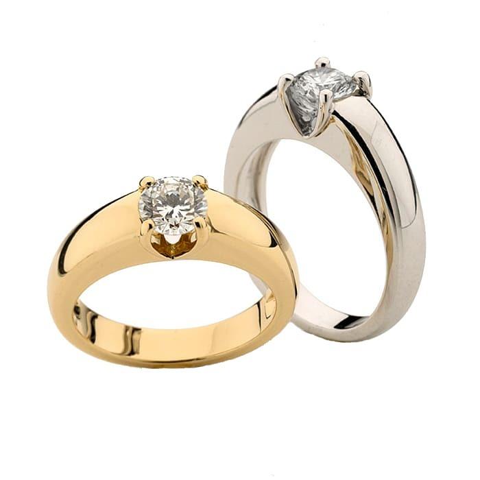 Engagement ring Classics Diamond Gold PARISOLO