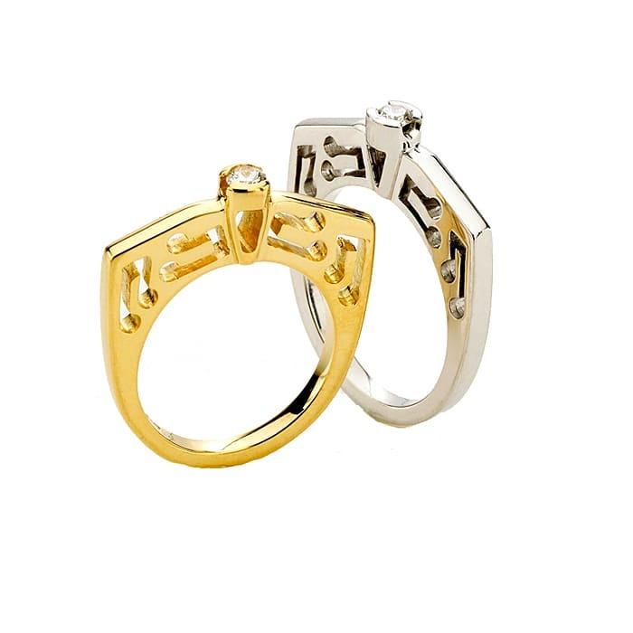 Engagement ring Designer Jewellery Diamond Gold BLUE NOTE
