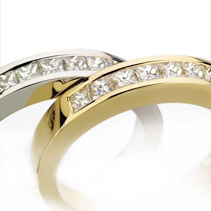 vente Alliance Demi-tour Diamant or PRINCESSE