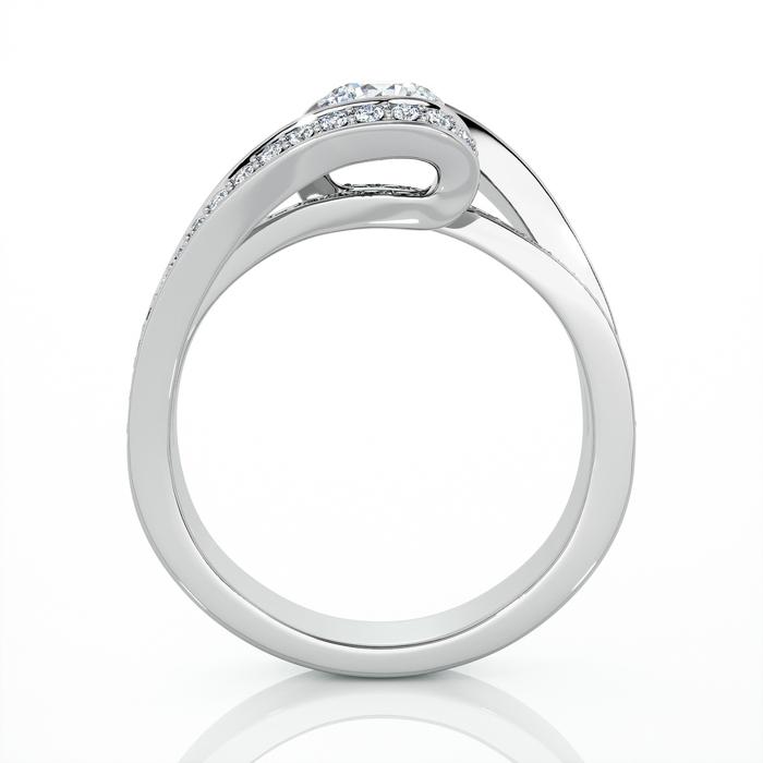 vente Bague  Classique  Diamant or CARESSE