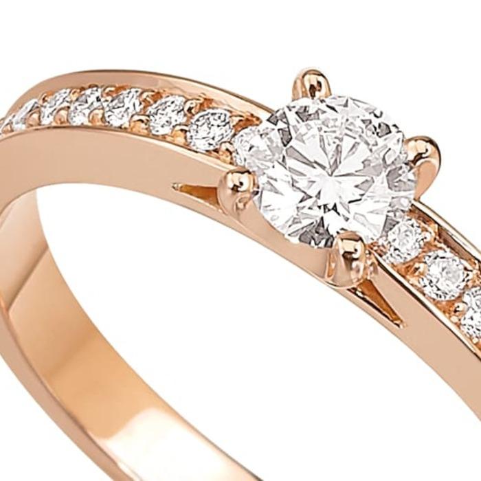 vente Bague  Classique  Diamant or Or Rose