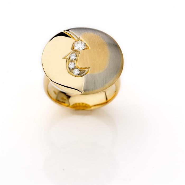 vente Bague  Créateurs Diamant or La Ronde