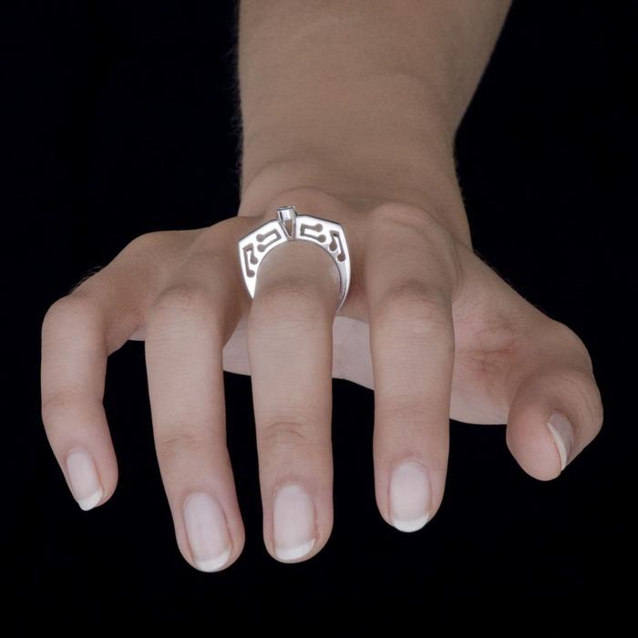 sell Ring Designer jewellery Diamond Gold PRINCESS MUSIC by Sandro