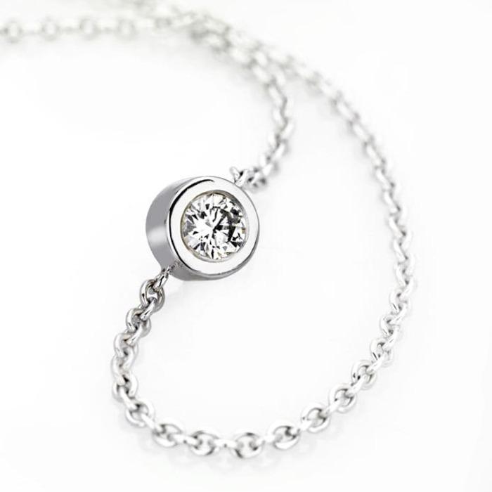 vente  Bracelet  Diamant or serti clos ETERNITE