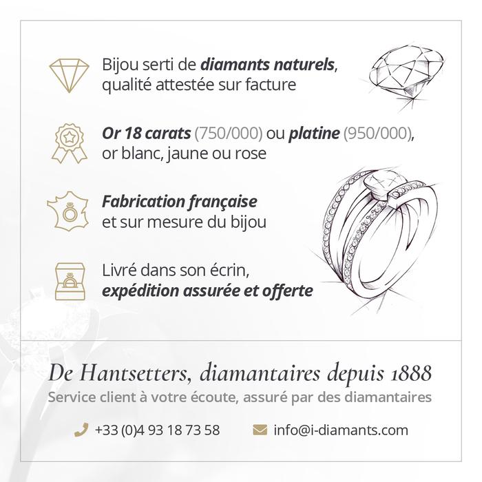 vente Pendentif Classique  Diamant or TRILOGIE