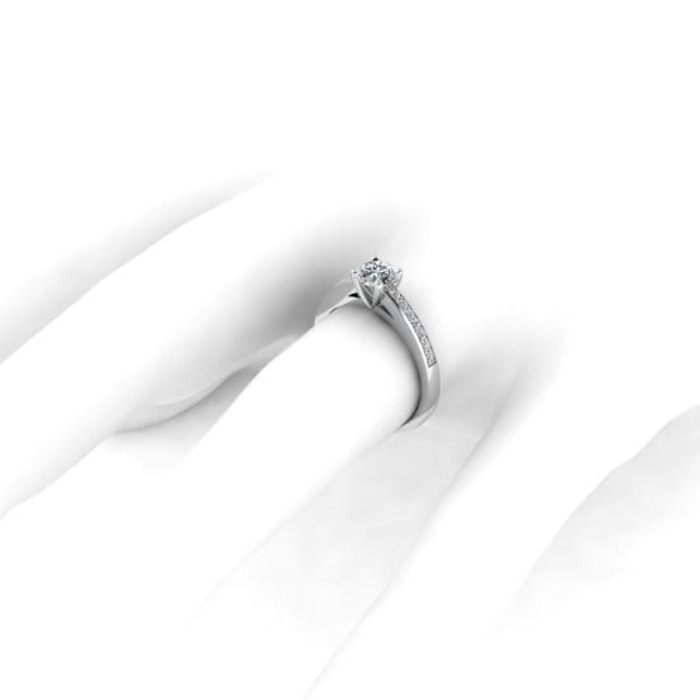 sell Engagement ring Paved  Diamond Gold SUNRISE (Paved)