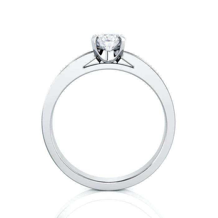 vente Solitaire  Classique avec pavage  Diamant or BERCEAU Pavé