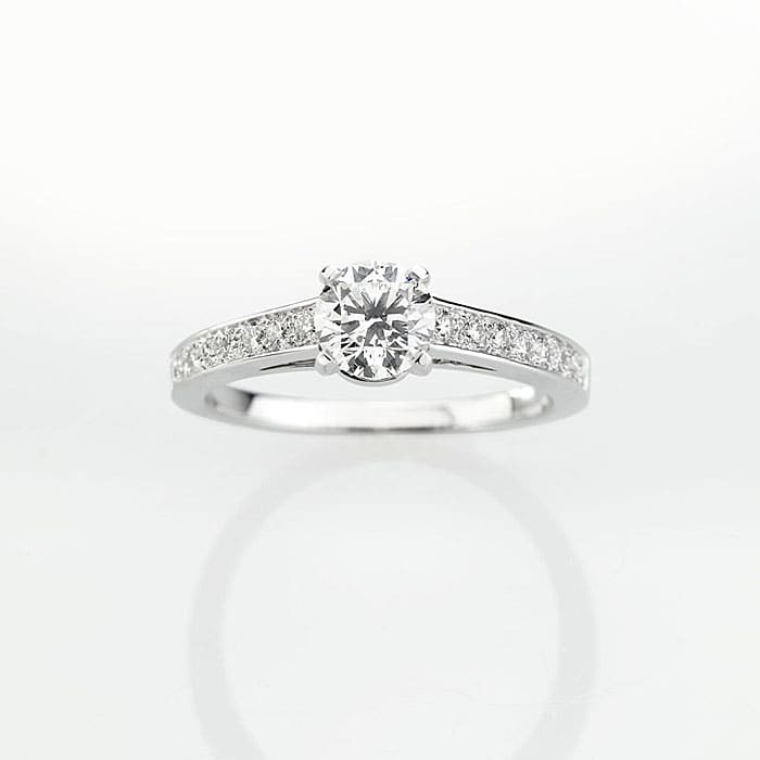 vente Solitaire  Classique avec pavage  Diamant or PARIS Premium 2 0.75 carat