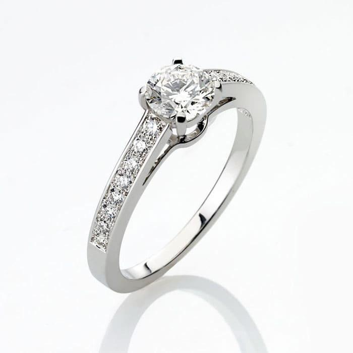 sell Engagement ring Paved  Diamond Gold PARIS Premium 2