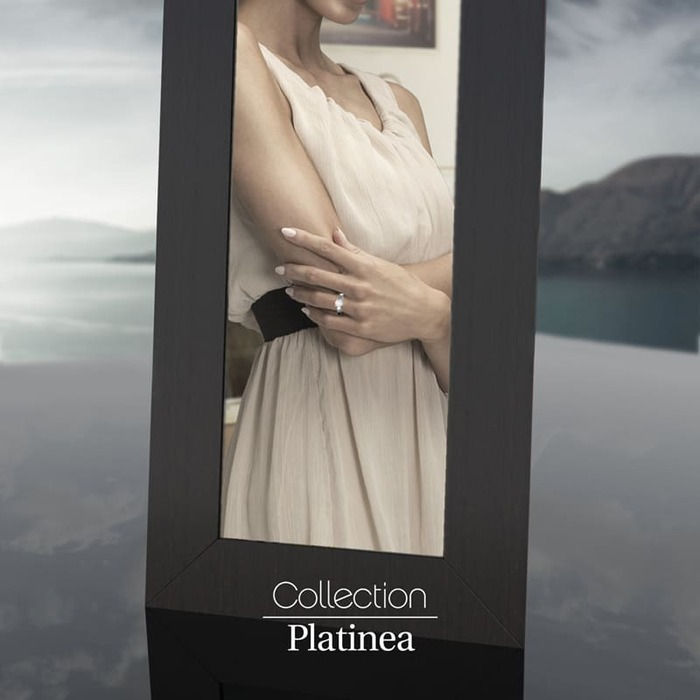 sell Engagement ring Classics Diamond Gold PLATINEA Berceau