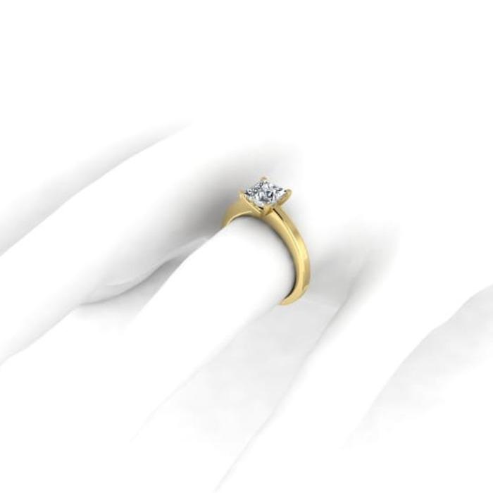 vente Solitaire  Classique  Diamant or Princesse Royale